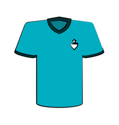 shirt with emblem on chest icon image vector image vector image
