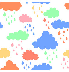 Sky background with blue pink green and orange vector