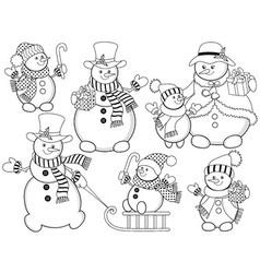 Snowman04 vector