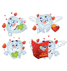 Teeth on romantic Valentines Day vector image vector image