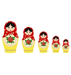 Traditional matryoschka dolls vector