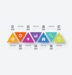Triangles for infographic vector