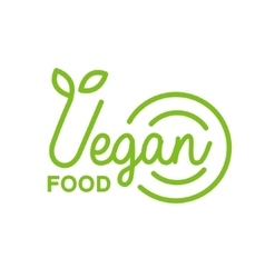 Vegan Natural Food Green Geometric Logo Design vector image vector image