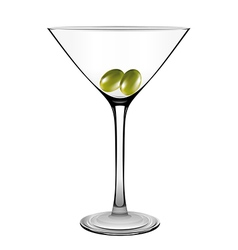 Martini glass with olive vector image