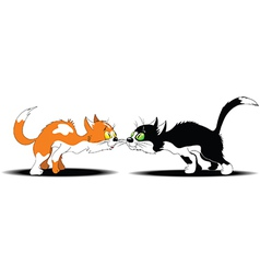 Cats brawling vector