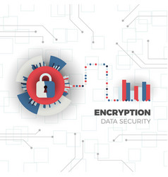 Data encryption concept vector