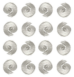 Pattern of metallic swirls vector
