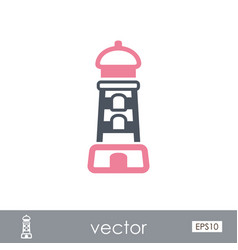 Lighthouse outline icon summer vacation vector