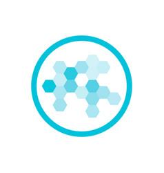 Nanotechnology blue round icon vector