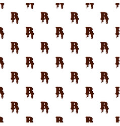 Letter r from latin alphabet made of chocolate vector