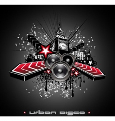 disco music flyer background vector image