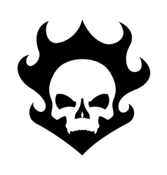 Skull black flame vector