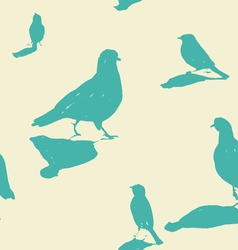 Birds on the ground seamless pattern vector
