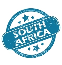 South africa round stamp vector