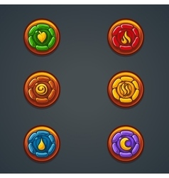 Set of representing different elements vector