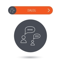 Dialog icon chat speech bubbles sign vector
