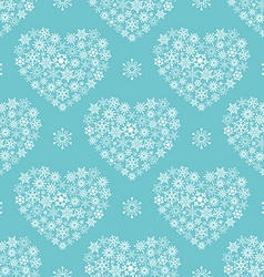 Turquoise seamless pattern with hearts vector