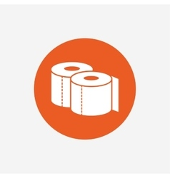 Toilet papers sign icon wc roll symbol vector