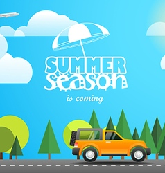 Summer season flat design vector image