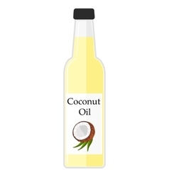 A bottle with coconut oil vector