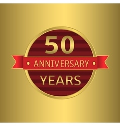 Anniversary 50 years vector