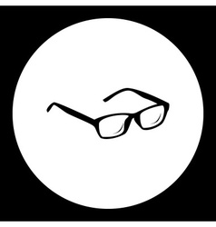 Black isolated eye glasses symbol simple icon vector