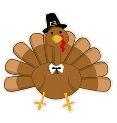 Cute cartoon thanksgiving turkey vector