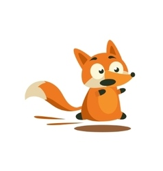Fox Running Away vector image vector image