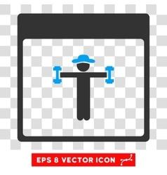 Gentleman Fitness Calendar Page Eps Icon vector image vector image