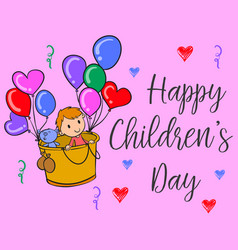 Happy children day colorful style collection vector