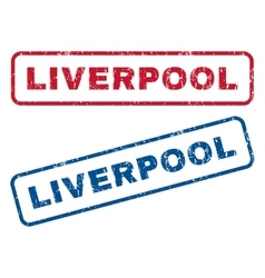 Liverpool rubber stamps vector