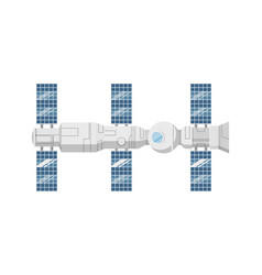 Modern orbital space station isolated icon vector
