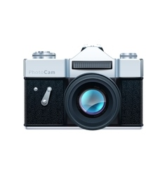 Old fashioned vintage camera vector image vector image