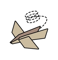 Paper plane idea innovation up line dotted vector