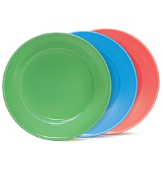 Plates set vector image