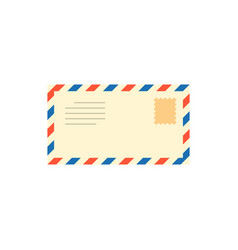 post mail letter with stamp vector image vector image