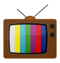 Retro tv test pattern vector