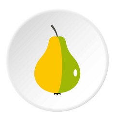 Ripe pear icon circle vector