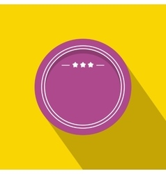 Round badge with three stars icon flat style vector