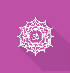 Sahasrara beautiful indian ornamental chakra vector