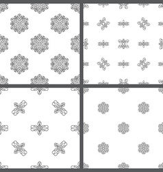 Set of seamless hand-drawn patterns vector image vector image