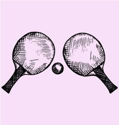 tennis ping-pong vector image vector image