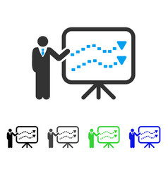 Trends presentation teacher flat icon vector