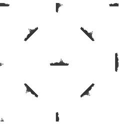Warship pattern seamless black vector