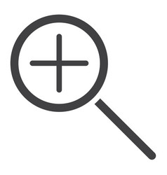 zoom in glyph icon web and mobile magnifying vector image