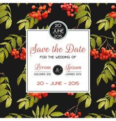 Invitation and Congratulation Card - for Wedding vector image