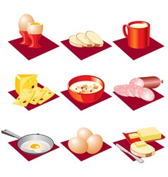 Breakfast food vector