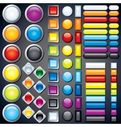 Collection of Web Buttons Icons Bars Image vector image