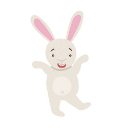 Bunny cute toy animal with detailed elements part vector