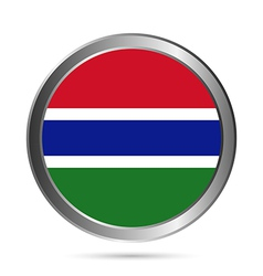 Gambia flag button vector